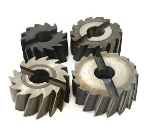 Lot Of 4 Hss Butterfield Shell Mill Milling Cutter 4 4 1 2 5 Od