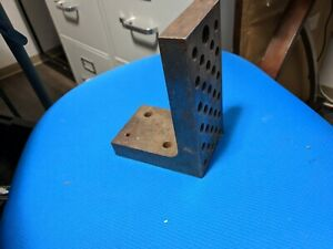 Machinist Angle Plate Fixture Plate Threaded 6x3x4