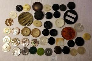 Thriftchi Vintage Unusual Sewing Buttons Some Mother Of Pearl Bakelite