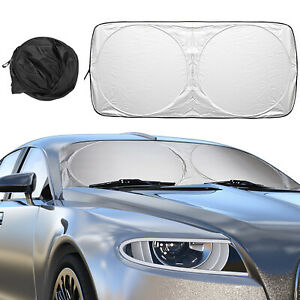 Front Window Car Sun Shade Visor Folding Uv Heat Block Cover Windshield 190t