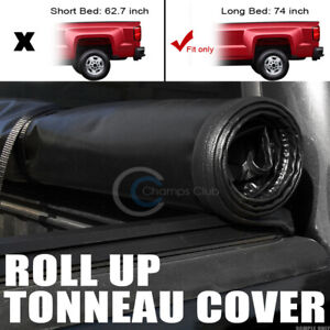 Roll Up Soft Tonneau Cover Fit 15 19 Chevy Colorado Gmc Canyon 6 Ft 72 Long Bed