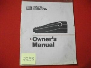 Vintage Smith Corona Typewriter Owner s Manual Many Models See Listing