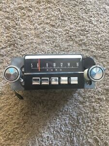 Car Radio 1960s Ford Mustang Original Factory W O Case Works Vintage
