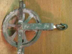 Greenlee Rope Pulley Block Sheave With Hook 12 Tugger Wire Puller