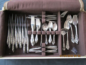 Antique Wallace Sir Christopher Sterling Silver Flatware 66pcs Service 12 1936