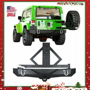 For 07 18 Jeep Wrangler Jk Rear Bumper Secure Lock Tire Carrier Hitch Receiver