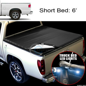 Snap On Tonneau Cover 16x Led Lights 82 93 Chevy S10 Gmc S15 Sonoma 6 Truck Bed