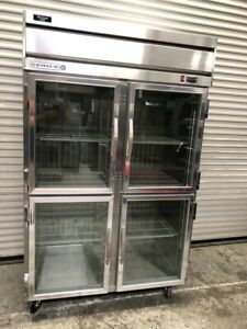 4 Glass Door Split Display Refrigerator Nsf Cooler Beverage Air Hrps2 1hg 2264