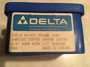 Delta Rockwell 45 975 Female Sash Carbide Tipped Shaper Cutter 3 4 Bore