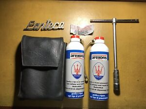 Lot Tool Kit Maserati Pantera Spark Plug Tyre Inflator Repair Kit Badge Italy