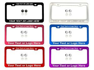 Laser Engraved Customize License Plate Frame Aluminum Fit Subaru