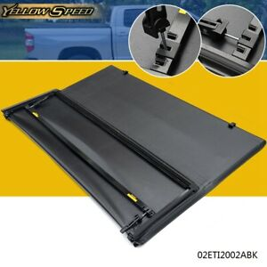 For 2016 2017 2018 Toyota Tacoma Lock 3 Fold Tonneau Cover 5ft Short Bed Black