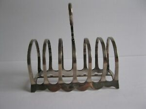 Vintage English Silverplate Toast Letter Napkin Holder