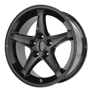Ford Mustang Cobra R 5 lug Style Wheel 17x9 24 Black 5x114 3 5x4 5 qty 2