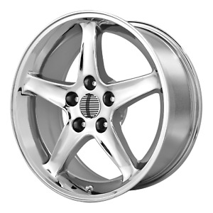 Ford Mustang Cobra R 5 lug Style Wheel 17x9 24 Chrome 5x114 3 5x4 5 qty 4