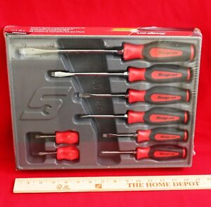 Snap On Red Tools Screwdriver Set 8 Pc Combination Soft Instinct Handle New