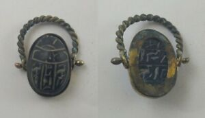 Rare Ancient Egyptian Antique Ring Scarab 1785 1569 Bc