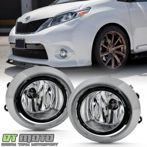 For 2011 2017 Toyota Sienna Se Fog Lights Driving Lamps Chrome Trim W Oe Switch