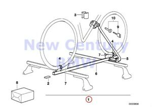 Bmw Genuine Roof Rack Systems Touring Bicycle Holder Touring Bicycle Holder E28