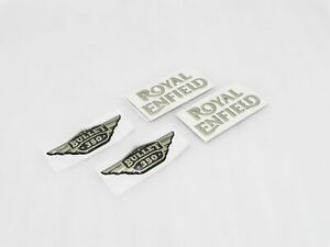 Royal Enfield Fuel Tank And Tool Box 350cc Golden Logo Sticker New Brand us