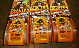 Gorilla 2 83in X 35yd Tough And Wide Packaging Tape W Dispenser 6 Pack case
