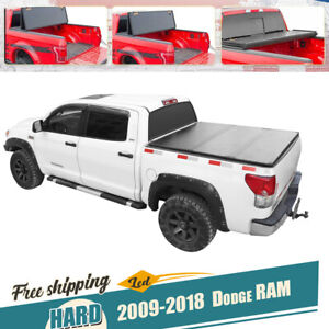 6 5ft Truck Bed Hard Tri fold Tonneau Cover For 09 2017 18 Dodge Ram 1500 2500