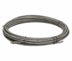 Ridgid 37862 1 2 X 75ft Inner Core Steel Drain Cleaning Cable W Male Coupling