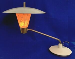 Mid Century Modern Atomic Space Age Flying Saucer Swing Arm Table Desk Lamp
