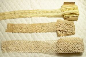 Lot Of 3 Vintage Lace Style Trims