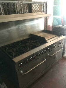 S60 g24 n Cpg 60 Commercial Range With 6 Burners Flat Grill And 2 Ovens