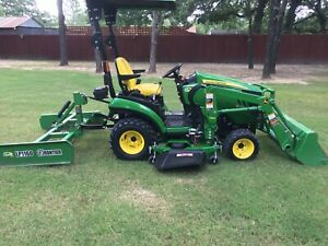 2017john Deere 4x4 1025r Utility Tractor Front Loader Flat Plane