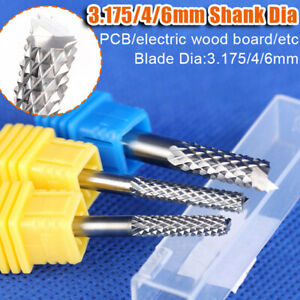 Pcb Carbide End Mill Router Bits Cnc Engraving Milling Cutter 3 175 4 6mm Dia