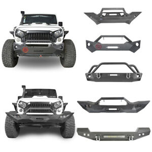 Front Bumper W Light Hole Or Led Lights Textured For Jeep Wrangler Jk 2007 2018