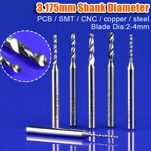0 2 2 mm Pcb Milling Cutter Drill Bit Cnc Router Bits Tungsten Carbide 3 175 Shk