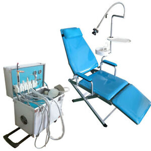Dental Folding Chair Mobile Unit Water Supply 4 Holes delivery Unit Weak Suction