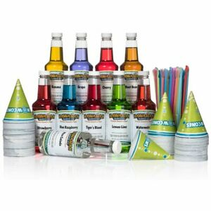 Flavor Syrup Hawaiian Shaved Ice 6 Flavor Fun Pack Snow Cone Drink Mix