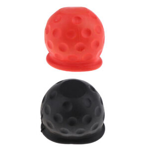 Universal 50mm Tow Ball Cover Caps Towing Hitch For Caravan Trailer X2pcs