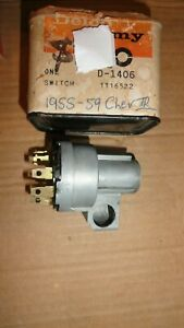 Nos 1955 59 Chevrolet Truck Ignition Switch D1406 1116522 Delco Remy