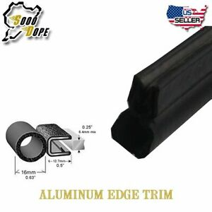 16feet Auto Vehicle Door Trunk Seal Trim Rubber Lock Vertical Bulb Diameter 5 8