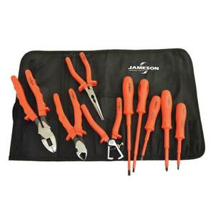 1000 Volt Insulated Basic Electricians Hand Tool Set Pliers Screwdriver 9 Piece