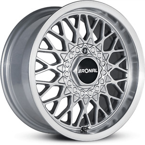 Ronal Ls S Lc Silver Front Diamond Cut Wheels 15 X 7 5 Inch Diameter Set Of 4
