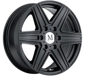 16x7 Mandrus Atlas 6x130 Rims 52 Matte Black Rims Set Of 4
