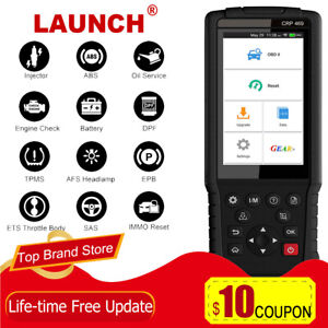 Launch X431 Crp469 Obd2 Diagnostic Tool Automotive Scanner Dpf Abs Srs Immo Tpms