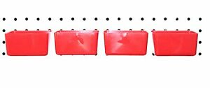 Small Plastic Red Pegboard Storage part Bins 4 Pack Jsp Brand
