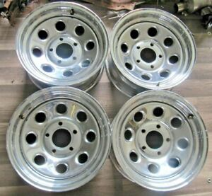 15x7 American Racing Chrome Wheels Gm 5x5 Bolt Pattern set Of 4 Excellent