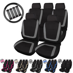 Breathable Full Front Rear Universal Car Seat Covers Headrest For Truck Suv