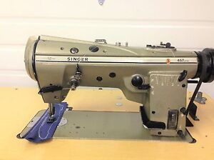 Singer 457u105 High Speed Zig Zag W reverse 110v Industrial Sewing Machine