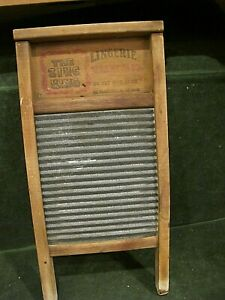 National Washboard Co Lingerie The Zinc King Vintage Wood Chicago Memphis 18x9
