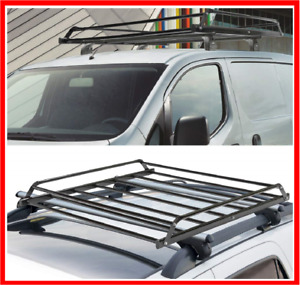Car Roof Rack Universal Cargo Basket Top Heavy Luggage Carrier Extension Black