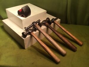 Vintage Auto Body Hammers And Body Anvil